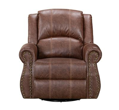 Homez, Recliner Chair With Rocking And Swivel Function, Dark Brown Colour, Leather