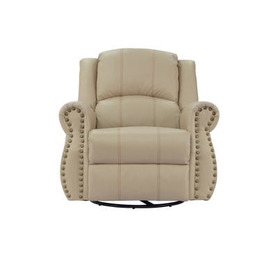 Homez, Recliner Chair With Rocking And Swivel Function, Dark Cream Colour, Leather
