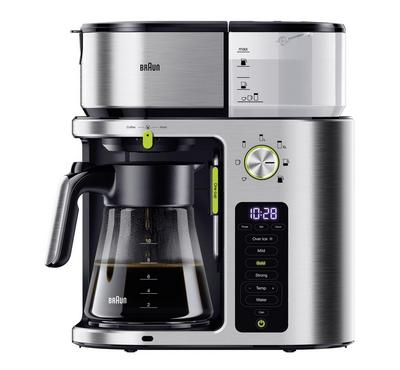 Braun Drip Coffee Maker, 1750W, 10 Cups, Premium Touch Display, Silver