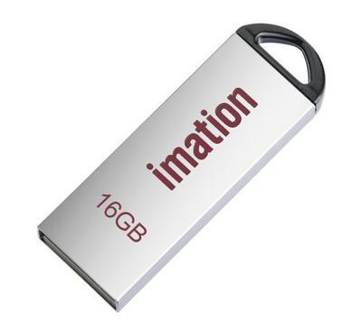 Imation 16GB Alfa Metal Flash Drive, Silver