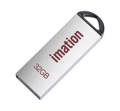 Imation 32GB Alfa Metal Flash Drive, Silver