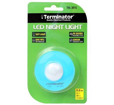 تيرمنيتور، مصباح ليلي، 0.6 واط مع جهاز استشعار