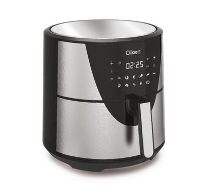 Clikon Digital Air Fryer, 8 Ltr Capacity, Oil Free Cooking, Black.