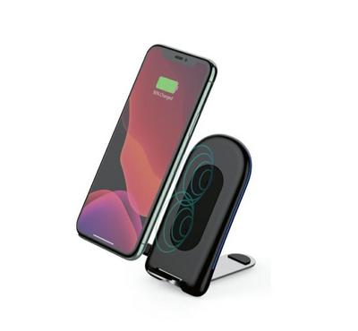 Smart 15Watts Fast Wireless Charger, Premium Dual Coil, Black