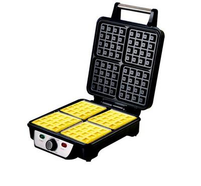 Geepas 4 Slices Waffle Maker, Non-Stick Surface, Silver