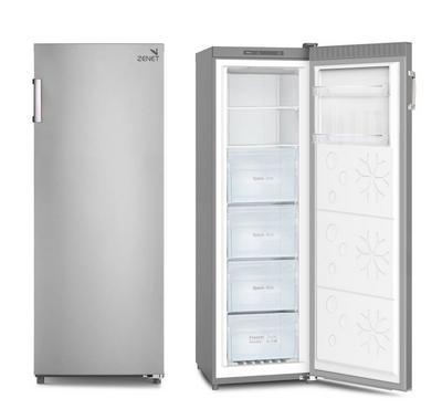 Zenet 250 Ltr Upright Freezer, 6 Drawer, Frost Free, White.