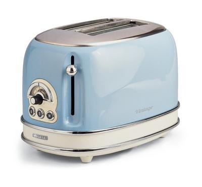 Ariete 1600 Watts Vintage 2 Slice Bread Toaster,Blue