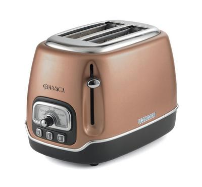 Ariete 810 Watts 2 Slice Bread Toaster, Defrost Function, Copper