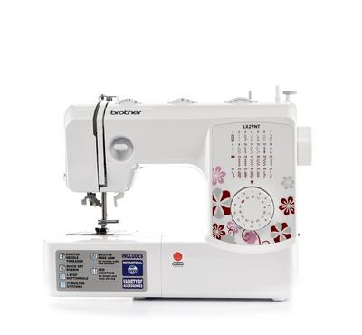 Brother Mechanical Sewing Machine, with 27 built In stitches, 51W, White