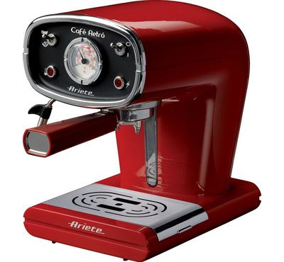 Ariete 850 Watts Coffee Machine, 15 Bar Pressure, Red.