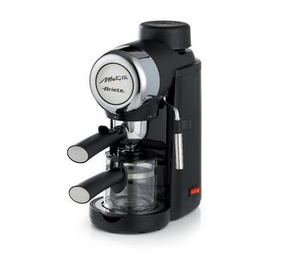 Ariete 800W Mokita Steam Coffee Machine, 5 Bar Pressure, Black