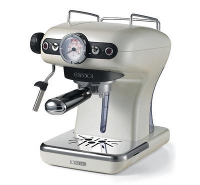 Ariete 850 Watts Classica Expresso Machine, 0.9 Ltr,15 Bar Pressure, Pearl..