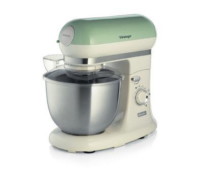 Ariete 2400 Watts Kitchen Machine, 5.5 Ltr Capacity, 7 Speed+Pulse, Green.