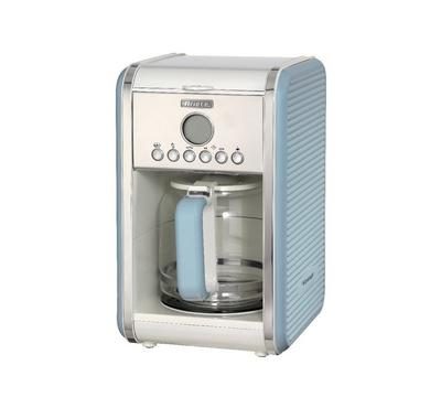 Ariete Vintage Filter Coffee Maker, 12 Cups Capacity, Blue.