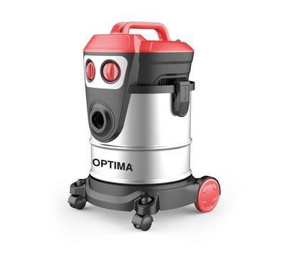 Optima 1600W Vacuum Cleaner, 20 Ltrs Capacity, Wet & Dry,Silver&Black
