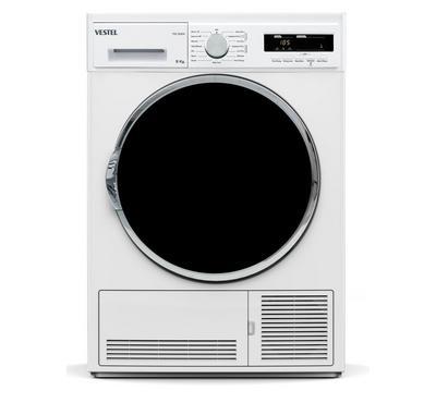 Vestel 9.0KG Condenser Clothes Dryer Digital Display, 2000W, White