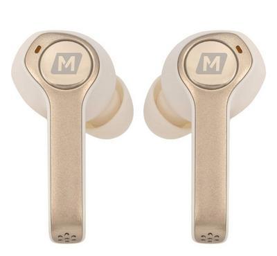 موماكس سماعة أذن لاسلكية، مع حافظة شحن، فضي
