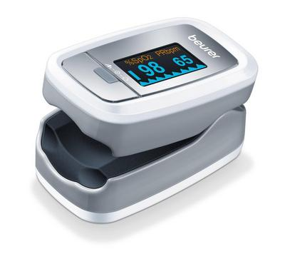 Beurer Pulse Oximeter, Determines Oxygen + Heart Rate, Pain Free, White