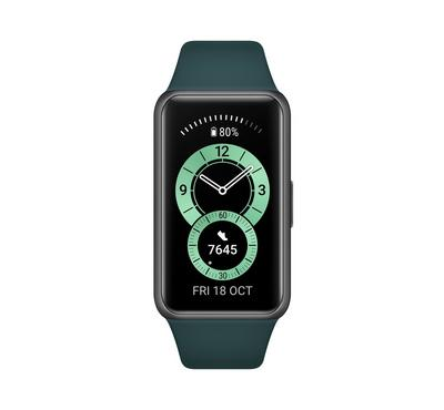 HUAWEI Band 6,Full-Vision AMOLED Screen with 25.4MM, Forest Green