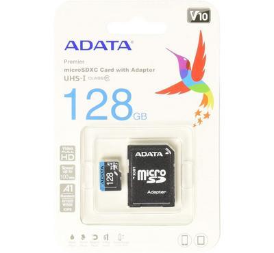ADATA Micso SD Card 128GB, Black