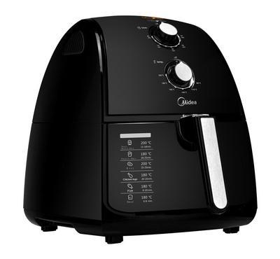 Midea  Analog Air Fryer Plastic Body,4.0L, 1500W, Black
