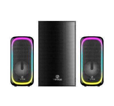 Vertux SONICTHUNDER-50 2.1Ch, Gaming PC Mini-Speaker 50W, Black