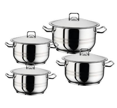 Hascevher 8 Pcs Pot Set, Stainless Steel