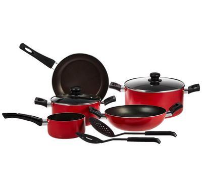 بيجوين، طقم طهي 9 قطع، أحمر/أسود