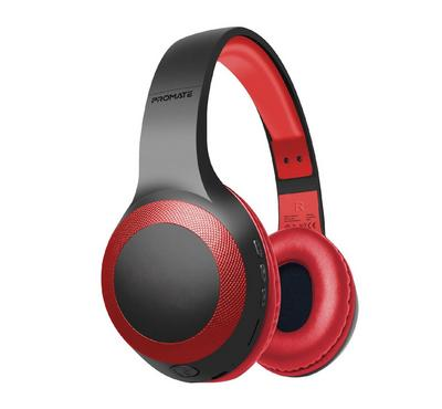 Promate, Laboca Over-Ear Headphones, Red