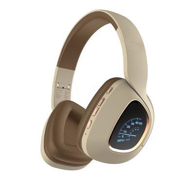 Promate Deep Bass Over-Ear Wireless Stereo Headphone, Beige.