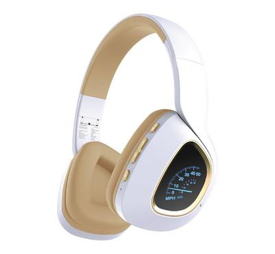 Promate Deep Bass Over-Ear Wireless Stereo Headphone, White.