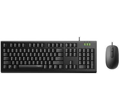 رابو أكس120، لوحة مفاتيح + ماوس كومبو، أسود