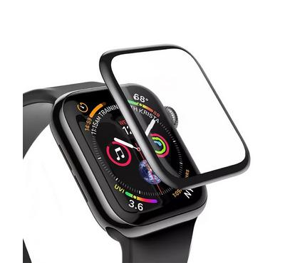Jinya Glass Screen Protector, Compatible For Apple Watch 44mm, Black