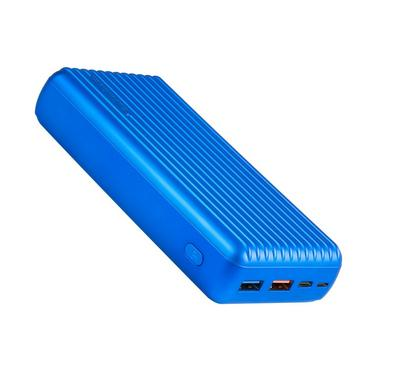Promate 30000mAh Power Bank, Fast Charging, 2 USB Type-C Ports, Blue