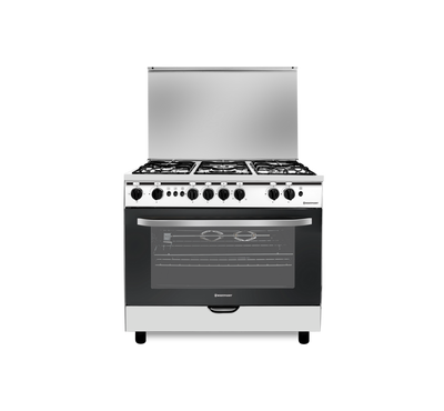 West Point 90x60 Gas Cooker, 5 Burner,Full Safety, Stainkess Steel.