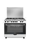 West Point 90x60 Gas Cooker, 5 Burner, Full Safety, Stainless Steel.