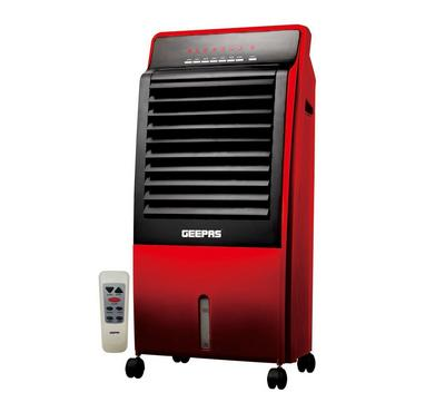 Geepas Air Cooler, 8 Ltrs Cooling Capacity, Anti Dust Filter, Black & Red