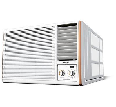 هايسنس مكيف شباك، 1.5 طن، 17200 وحدة، روتاري، أبيض