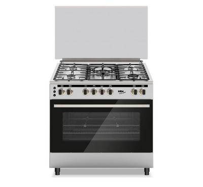 Zen, Gas Cooking Range, 90x60cm, 5 Burners, 125L Gas Oven, Stainless Steel