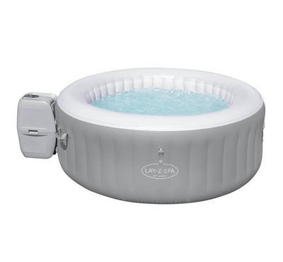 Bestway LAY-Z-SPA ST. LUCIA 170x66cm  Airjet Inflatable Spa Pool Set, Grey