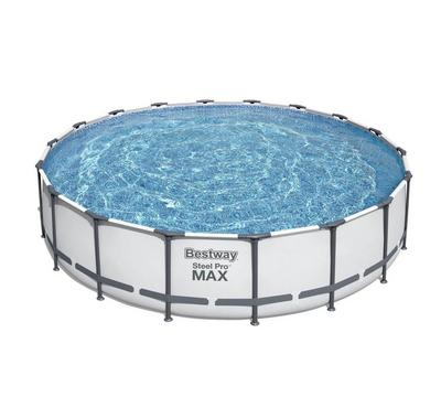 Bestway STEEL PRO MAX 549x122cm Round Inflatable Pool Set, White
