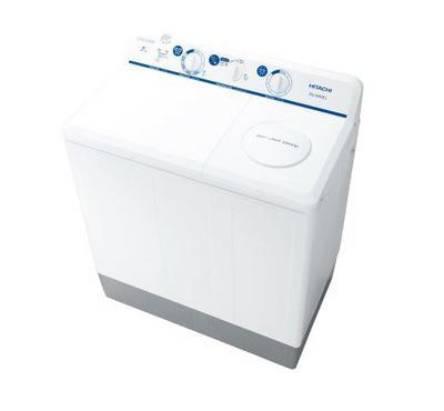 Hitachi 7kg Washer, Twin Tub Semi Automatic Washing Machine, White.