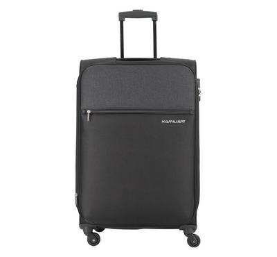 Kamiliant, 78cm Luggage Bag, Polyester, Black