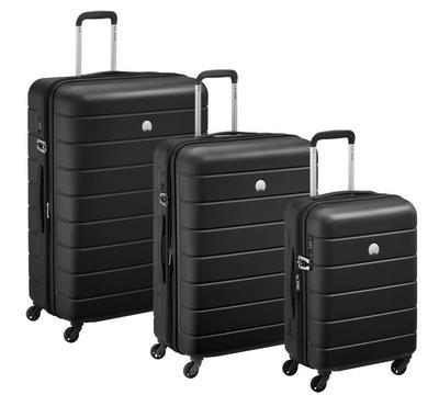 دلسي، ثلاث حقائب سفر، صغيرة + متوسطة + كبيرة ، سوداء