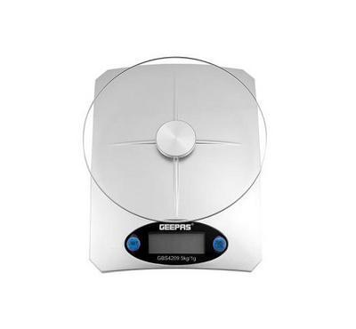 Geepas Digital Kitchen Scale, 5KG Capacity, White