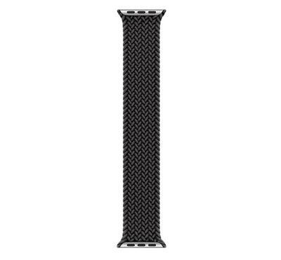 Smart 44mm Apple Watch Wrist Band Premium Braided Loop Black