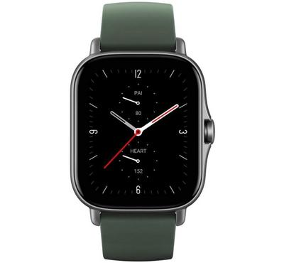 Amazfit GTS-2E A2021 36mm Smart Watch With Heart Rate, Moss Green