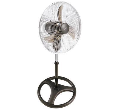 Kenwood 90 Watts Floor Stand Fan, 3 Speeds, Adjustable Angle, Silver.
