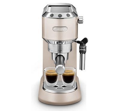 Delonghi Pump Coffee Machine, 1300W, 15 Bar, 1.1L Water Tank, Beige