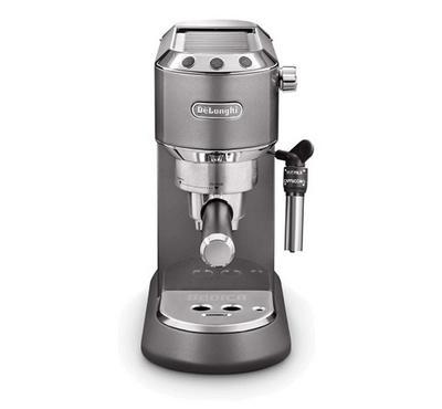 Delonghi Pump Coffee Machine, 1300W, 15 Bar, 1.1L Water Tank, Grey